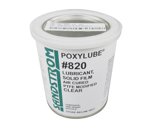 Sandstrom Poxylube® #820 Clear PTFE Modified Air Dry Film Lubricant - Quart Can