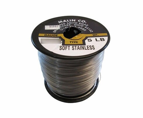 """Military Standard MS20995C24 Stainless Steel 0.024"""" Diameter Safety Wire - 5 lb Roll"""