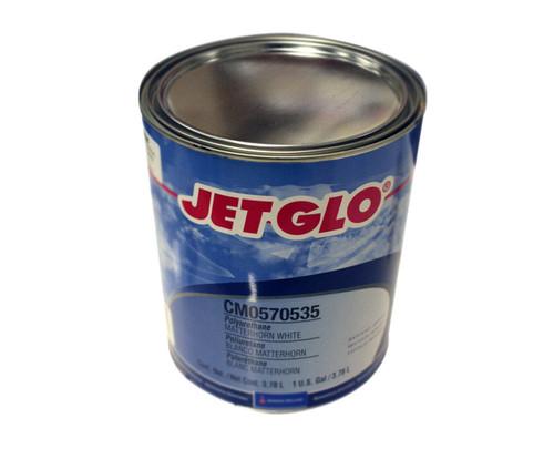 Sherwin-Williams® CM0570535 JET GLO® Matterhorn White Polyester Urethane Topcoat Paint - Gallon