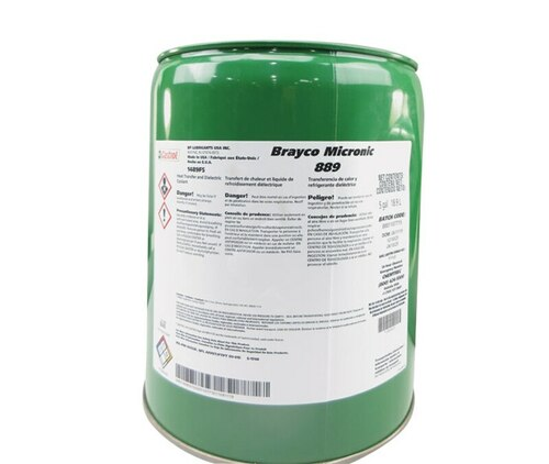 Castrol® Brayco™ Micronic 889 Yellow MIL-PRF-87252C Ammendment 1 Spec Hydrolytically Stable Dielectric Coolant Fluid - 5 Gallon Steel Pail