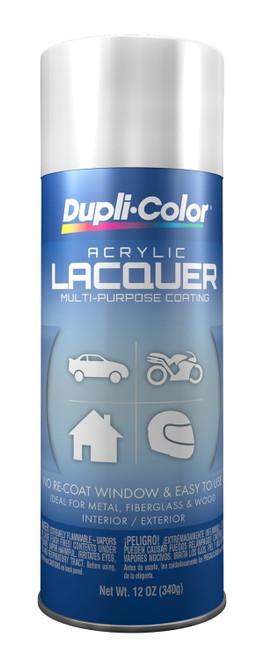 DUPLI-COLOR® DAL1675 Gloss White Multi-Purpose Acrylic Lacquer Paint - 340 Gram (12 oz) Aerosol Can
