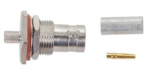 TE Connectivity 5225398-6 Brass/Nickle RG-142, RG-142A, RG-142B BNC Female Straight Connector, Plug, Electrical