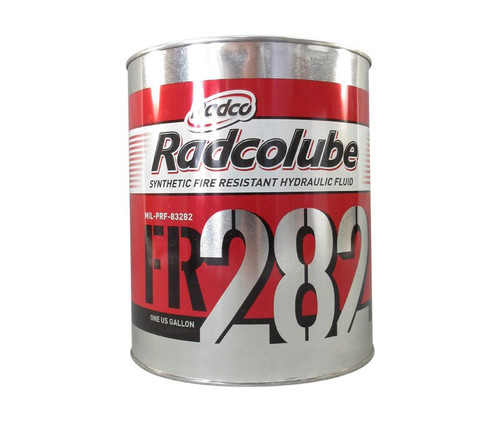 RADCOLUBE® FR282 Red MIL-PRF-83282D(1) Spec Fire-Resistant Synthetic Low Temperature Hydraulic Fluid - Gallon Can