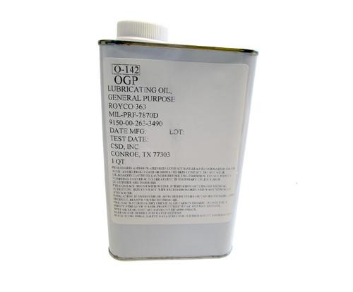 ROYCO® 363 Yellow MIL-PRF-7870 Spec General Purpose Low Temperature Oil - Quart Can