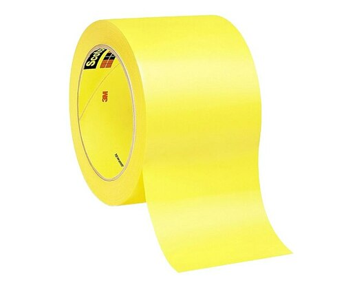 "3M™ 021200-06470 Yellow 471 Vinyl 5.2 Mil Tape - 3"" x 36 Yard Roll"