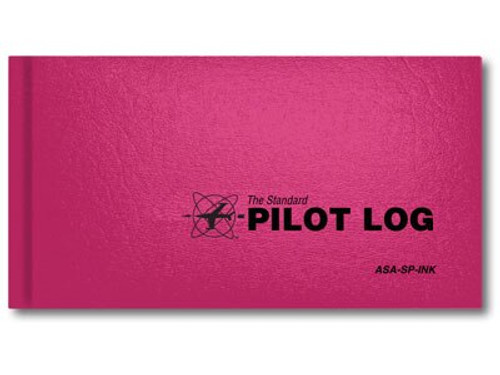 Aviation Supplies & Academics ASA-SP-INK Pink The Standard™ Pilot Log Book