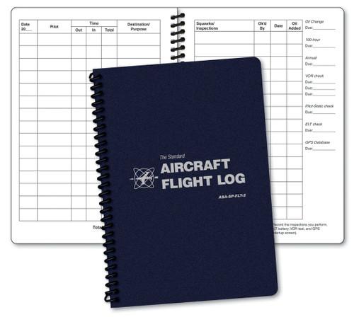Aviation Supplies & Academics ASA-SP-FLT-2 Blue The Standard™ Softcover Aircraft Flight Log
