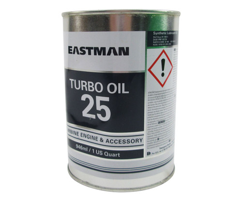 Eastman™ Turbo Oil 25 Clear DOD-PRF-85734A Spec Helicopter Transmission Lubricating Oil - 946 mL (Quart) Can
