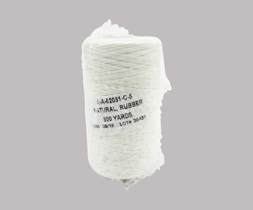 Military Specification A-A-52081-C-5 Natural DFAS Compliant Polyester/Synthetic Rubber Finish Tape, Lacing & Tying Cord - 500 Yard Spool