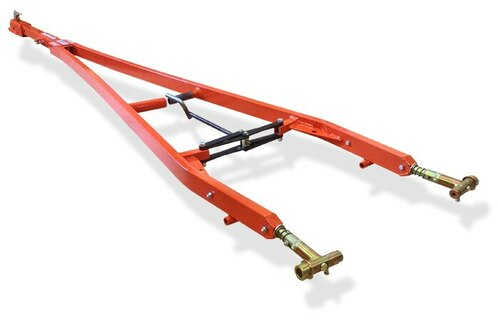 "Brackett TR-34B Orange 7' 8"" to 8'-8"" Telescoping Length 14,000 lbs. Capacity Universal Towbar with 2"" Ball Hitch"