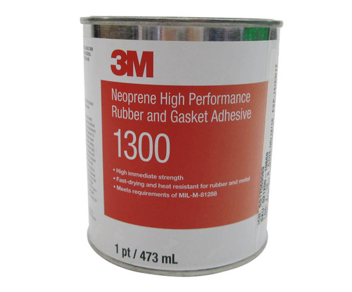 3M™ 021200-19869 Scotch-Weld™ 1300 Yellow Neoprene High Performance Rubber & Gasket Adhesive - Pint Can