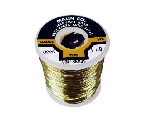 "Malin 26-0226-001S CDA 260 Soft Brass 0.0226"" #23 ASTM B134 Spec Breakaway Wire (1 lb Roll)"