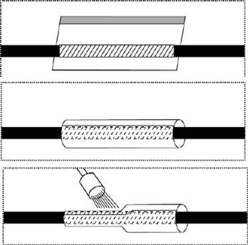 "ICO RALLY HSRT#9 Black 1.1 - 1.12"" Heat Shrinkable Repair Tubing - 50 Foot/Spool"