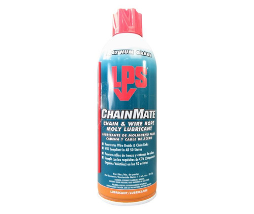 LPS 3® 02416 ChainMate Dark Gray Chain & Wire Rope Moly Lubricant - 11 oz Aerosol Can