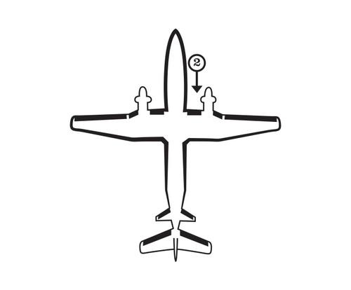 Goodrich P29S7D5137-02 FASTboot® Raytheon Beechcraft 1900 & 1900C RH Fuselage - Nacelle De-Ice Boot