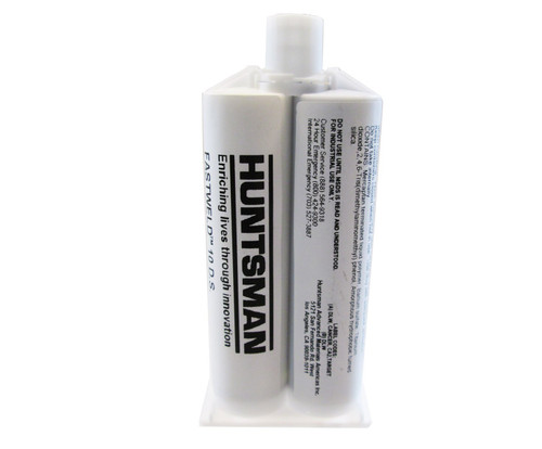 Huntsman FASTWELD® 10-A/B Gray Rapid Setting Epoxy Adhesive - 50 mL Cartridge