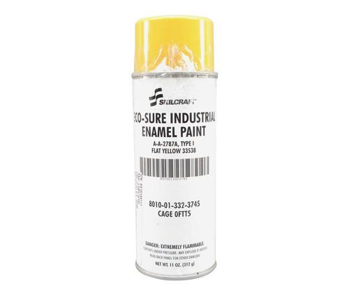 Skilcraft® 0674-330 ECO SURE® FS 33538 Flat Yellow A-A-2787A Type I Spec Industrial Enamel Paint - 11 oz Aerosol Can