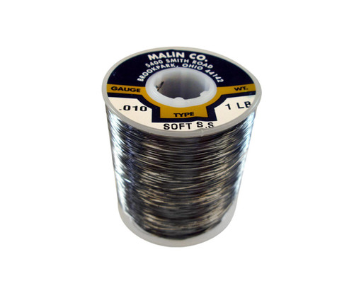 """Military Standard MS20995C10 Stainless Steel 0.010"""" Diameter Safety Wire - 1 lb Roll"""