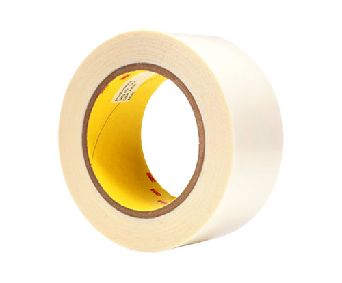 """3M™ 021200-04842 Clear 444 Double 3.9 Mil Coated Tape - 2"""" x 36 Yard Roll"""