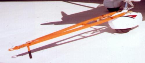 "Brackett TH-53C Orange 80""-94"" Telescoping 7000 lb Capacity Towbar with 3/4"" Hole Clevis Hitch"