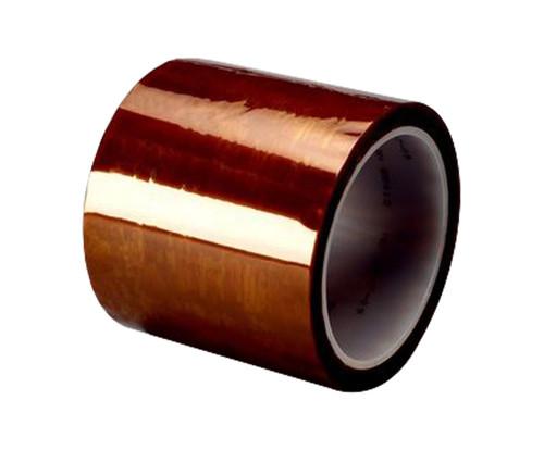"3M™ 021200-16174 Amber 5413 Polyimide 2.7 Mil Film Tape - 1"" x 36 Yard Roll"