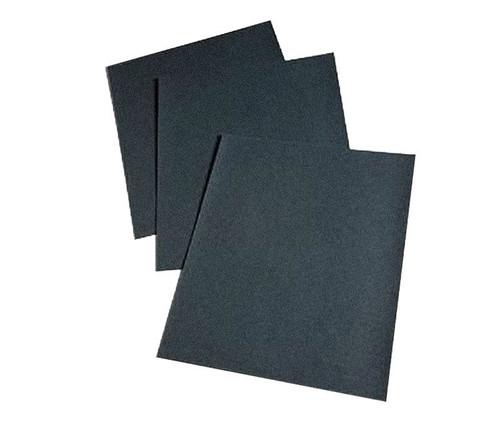"3M™ 051144-02014 Wetordry™ 431Q Black 9"" X 11"" 180 Grit C-Weight Paper Sheet - 50 Sheets/Pack"