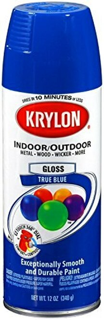 KRYLON® K01910 Industrial ACRYLI-QUIK™ OSHA Safety Blue Acrylic Lacquer Paint - 340 Gram (12 oz) Aerosol Can