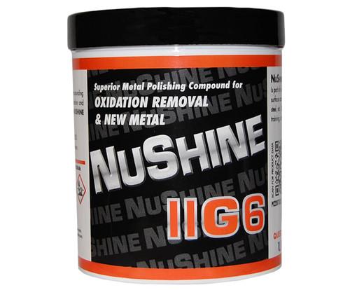 Nuvite PC22071LB Nushine II Grade G6 New Metal/Serious Oxidation Removal Metal Polishing Compound - 1 lb Jar