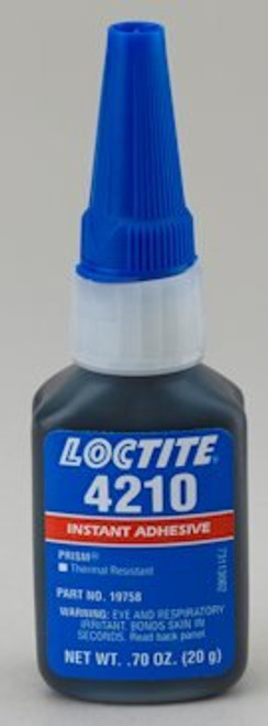 Henkel 19758 LOCTITE® 4210™ PRISM® Black Thermal Resistant Instant Adhesive - 20 Gram (.70 oz) Bottle