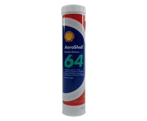 AeroShell™ Grease 64 Extreme Pressure Synthetic Molybdenum Disulphide Aircraft Grease - 400 Gram (14.1 oz) Cartridge