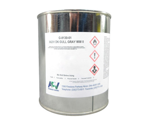 APV® Engineered Coatings G-8130-01 Walkway™ FS 36231 Gray A-A-59166A Type 2/MIL-W-5044C Spec Non-Slip Wing Walk Compound - Quart Can