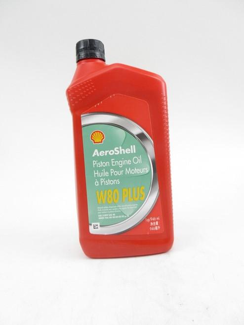 AeroShell™ Oil W80+ SAE Grade 40 Ashless Dispersant Aircraft Piston Engine Oil - 946 mL (Quart) Bottle