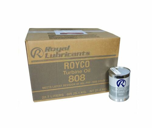 ROYCO® 808 Clear MIL-PRF-7808L Spec Advanced Synthetic Turbine Engine Oil - 24 Quart/Case