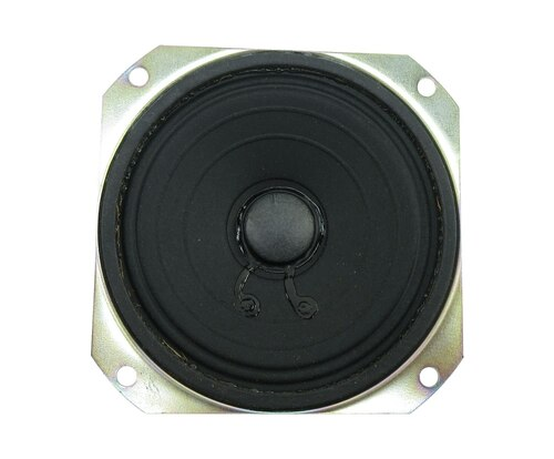 "MISCO EC4S-FR-I Square 4"" x 4"" Flame Retardant 12 Watt / 8 Ohm Speaker"