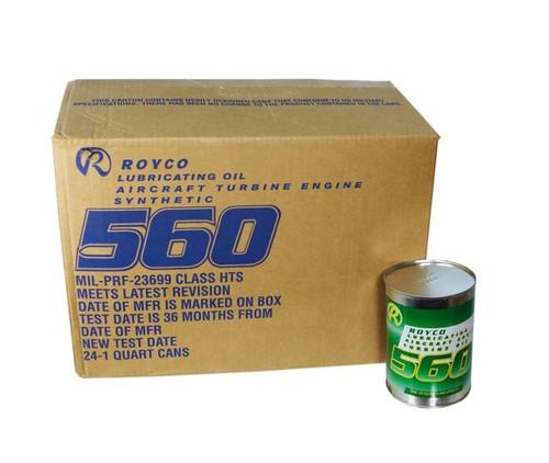 ROYCO® 560 Clear MIL-PRF-23699G HTS Class Spec Advanced Synthetic Gas Turbine Engine Oil - 24 Quart/Case