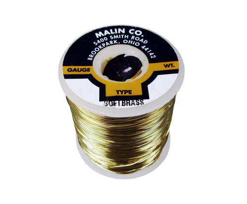 "Malin 26-0253-001S CDA 260 Soft Brass 0.0253"" #22 ASTM B134 Spec Breakaway Wire (1 lb Roll)"