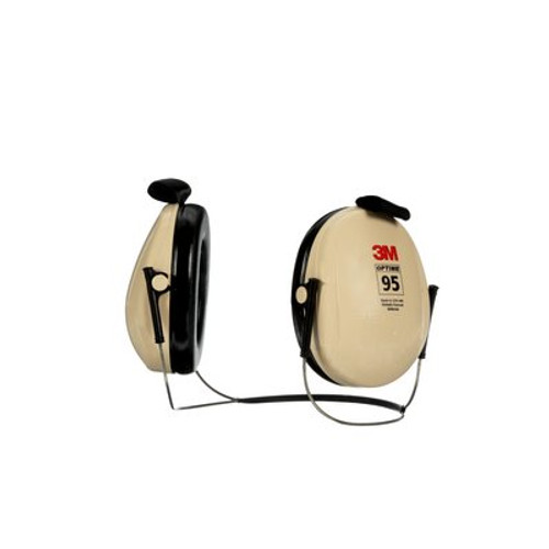 3M™ H6B/V PELTOR™ Optime™ 95 Beige/Black 21 db Behind-the-Head Earmuff