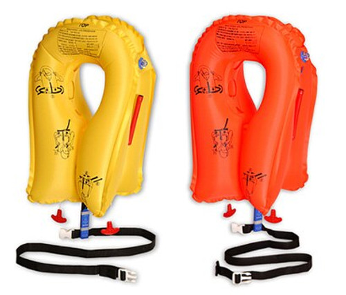 EAM Worldwide P01074-137W Yellow XF-35 Twin-Cell Life Vest with Whistle