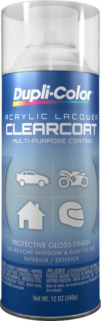 DUPLI-COLOR® DAL1695 Clear Multi-Purpose Acrylic Lacquer Paint - 340 Gram (12 oz) Aerosol Can
