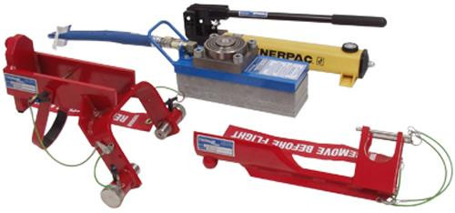 Tronair® 02-7833C0110 Blue 12-Ton Hydraulic Axle Jack with Main/Nose Gear Adapters (CE)