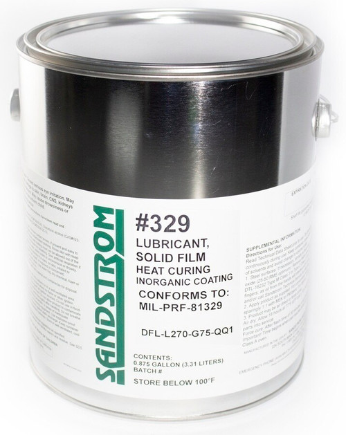Sandstrom #329 Matte Gray MIL-PRF-81329 Spec Heat Cure Solid Film Lubricant - Gallon Can