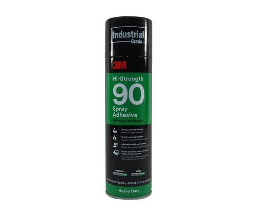 3M™ 021200-82219 Clear 90 Hi-Strength Spray Adhesive - 500 Gram (17.6 oz) Aerosol Can