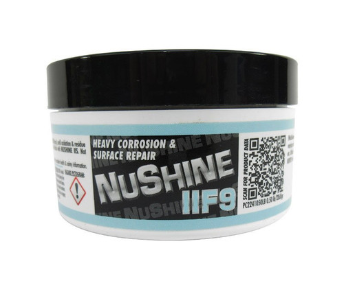 Nuvite PC2241050LB Nushine II Grade F9 Heavy Corrosion, Scratches & Pitting Reducing Metal Polishing Compound - 1/2 lb Jar