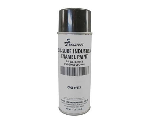 Skilcraft® 0674-244 SO SURE® FS 24084 Semi-Gloss Olive Drab A-A-2787A Type I Spec Industrial Enamel Paint - 11 oz Aerosol Can