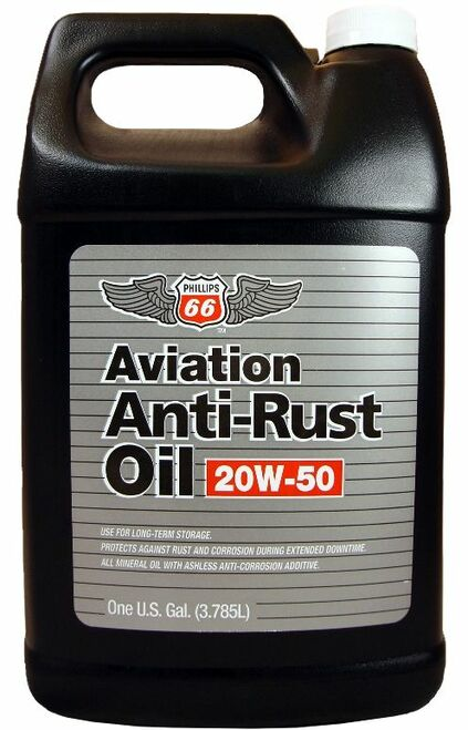 Phillips 66® Aviation 20W-50 Aviation Anti-Rust Oil - Gallon (3.785 Liter) Jug