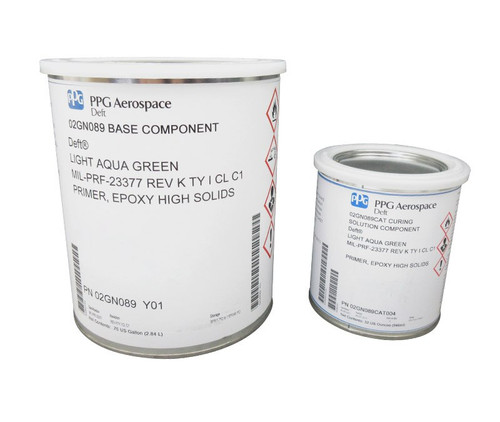 PPG Aerospace® Deft® 02-GN-089 Green MIL-PRF-23377J Type I, Class C1 High Solids Epoxy Quick Dry Primer - Gallon Kit