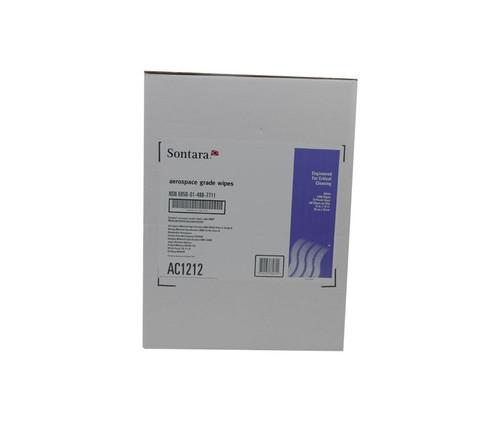 "Sontara® AC1212 White 12"" x 12"" Aerospace Grade Wipe - 1000 Wipes (10 Bag)/Case"