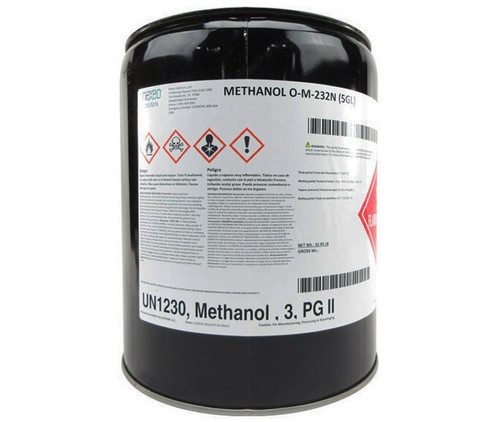 Military Specification O-M-232 Grade A Methanol, Technical - 5 Gallon Pail