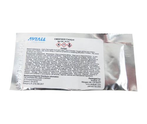 Sherwin-Williams U00150 JET GLO Matterhorn White Polyester Urethane Topcoat Paint - 10CC Pak