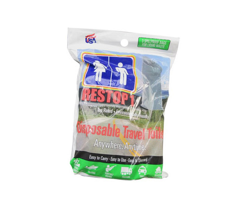 RESTOP RS1-3 Pack Disposable Travel Toilet - 3 Toilet/Pack